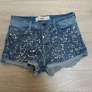 Hollister Cut Off Jean Shorts w/Bling 24
